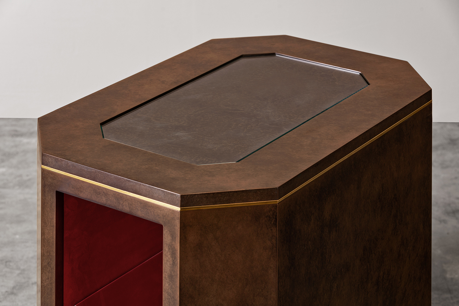 Luxury Patinated Bronze Side Table - Bespoke Furniture Hampshire, UK